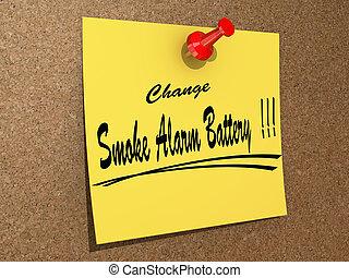 Change Smoke Alarm Battery
