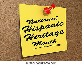 National Hispanic Heritage Month - A note pinned to a cork...