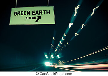 Green earth Ahead Concept