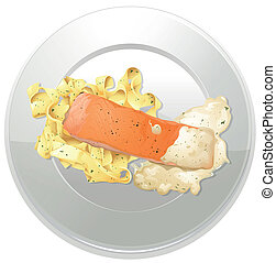 a, nourriture, et, a, plat