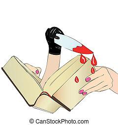 A Novel dangerous - A woman reads a detective novel
