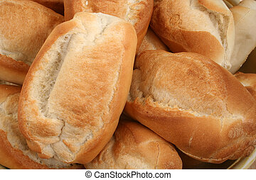 A Number of Fresh Bread Rolls are Displayed.