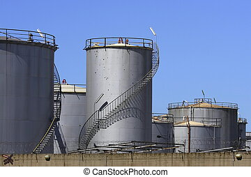 fuel tanks - A number of large and smaller fuel tanks