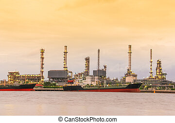A oil refinery factory
