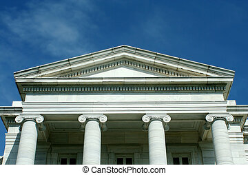Old courthouse with blue sky - A Old courthouse with blue...