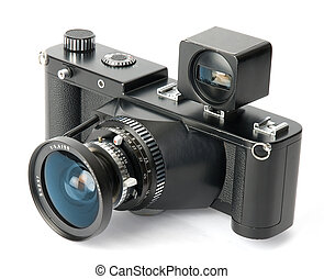 A old panoramic film camera