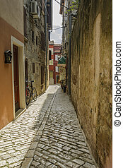 a old street in the town ot Rovinj