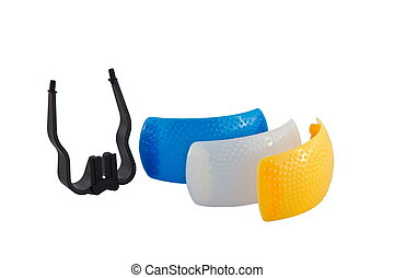a on-camera flash diffusers for the three color
