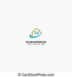 a one 1 logo design, check list A one logo home