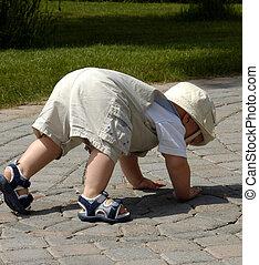 Baby Boy - A One Year Old Baby Boy, just walking
