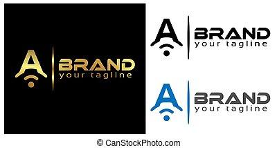 A online logo template, stock logo template.