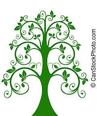 a, openwork, árvore