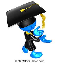 a, original, mini, sujeito, graduado