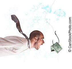 a, pénz, begörbít