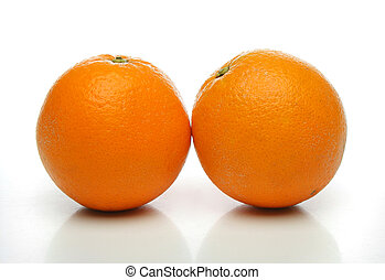 a, paar, von, saftig, orangen
