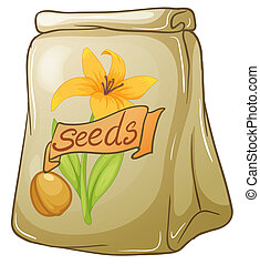 A pack of flower seeds