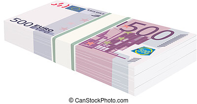 A pack of money is in Euro