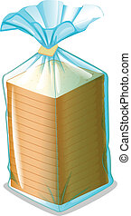 A pack of sliced bread - Illustration of a pack of sliced...