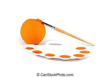 A painted orange