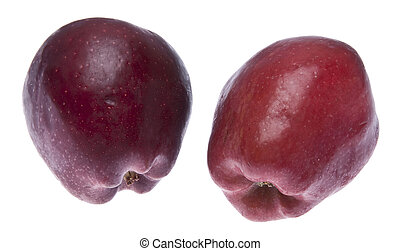 A pair of apples, isolated on whtie with a clipping path.