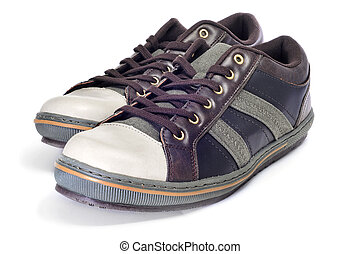 casual shoes - a pair of casual shoes for man isolated