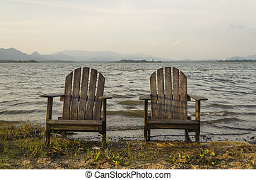 A pair of chair - This is the beautiful scene on vacation