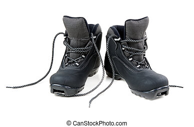 A pair of cross country ski boots