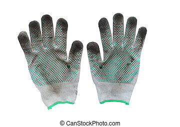 dirty work gloves - a pair of dirty work gloves