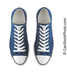 A pair of generic sneakers isolated on white