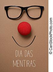 dia das mentiras, april fools day in portuguese