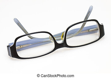 A pair of glasses isolated on white background