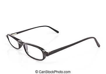 A pair of glasses on white background