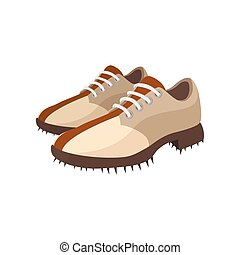 A pair of golf shoes cartoon icon
