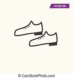 A pair of men shoes icon.