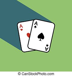 A pair of poker cards