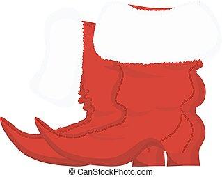 Santa Claus Christmas boots