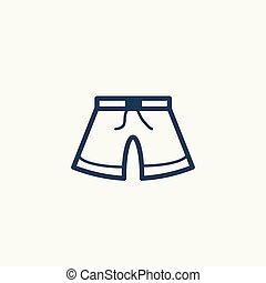 A pair of shorts vector icon.
