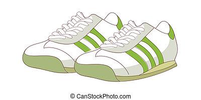 A pair of sneaker