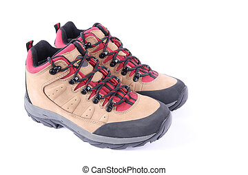 walking shoes - a pair of walking shoes with white ...
