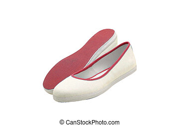pair of white shoes for summer