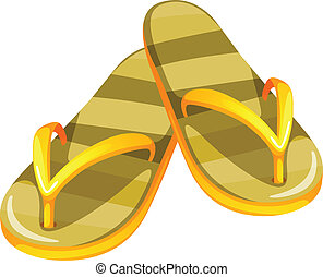 A pair of yellow sandals
