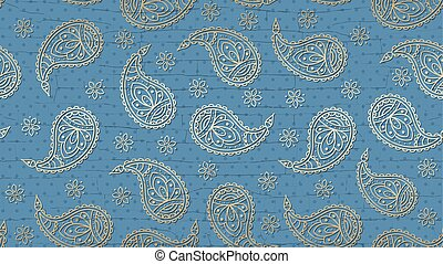 A paisley pattern background with a grunge effect