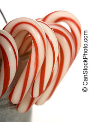 A pale of Candy Canes