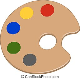 a palette of colors in vector