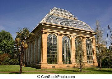 a, palma, casa, botanic real, jardim, edinburgh.