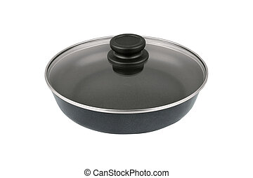 A pan on white background