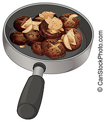 A pan with nuggets