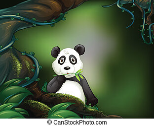 A panda at the jungle