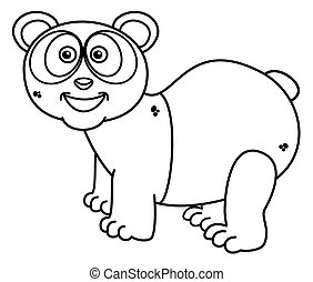 a panda smiling for coloring