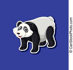 A panda sticker character